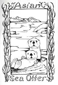2014 Pen and Ink - Asian Sea Otter