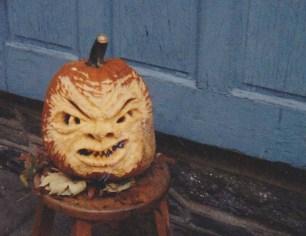 """First Pumpkin I ever """"carved""""!"""