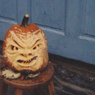 "First Pumpkin I ever ""carved"", 1995"