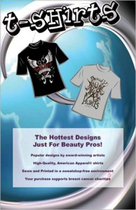 INTERNATIONAL BEAUTY SHOW T-SHIRT DESIGNS: BEAUTY ISN'T PAINLESS AND LOVE HURTS, 2008