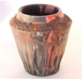 RAKU VASE, 2007 Raku clay and glaze