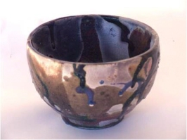 SHANE'S BOWL, 2007 Raku clay and glaze